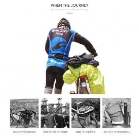 Alforjas de Bicicleta Impermeable para Bici Montaña,  Ciclismo, Viaje