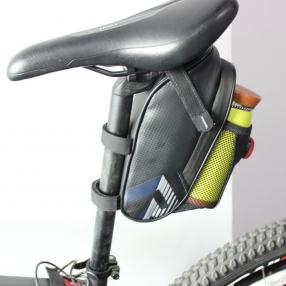 Bolsa de Bicicleta, Bolsa Trasera Mochila para sillín con LED y sostenedor de botella
