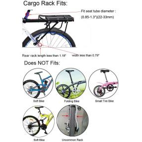 Portaequipajes trasero de aluminio para bicicleta